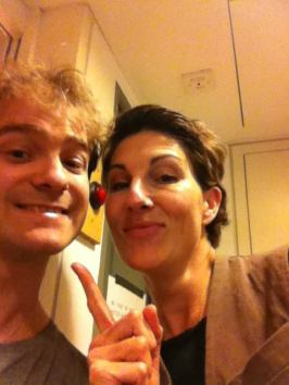 Recording with Tamsin Greig
