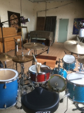 Recording drums for Alx Green